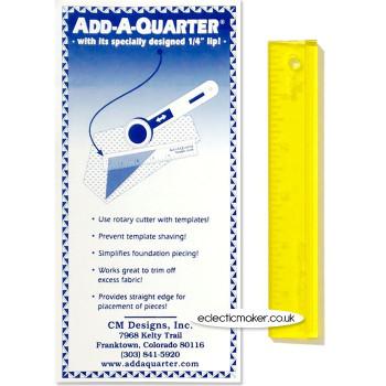 Add-A-Quarter Ruler - 6 inch