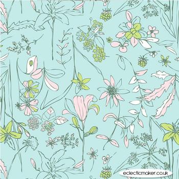 Art Gallery Fabrics - Untamed Beauty Twilight in Knit by Sharon Holland
