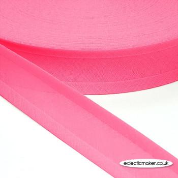 Bias Binding in Bright Pink - 25mm