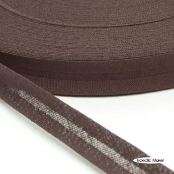Bias Binding in Dark Brown - 15mm