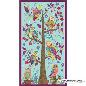 Blank Quilting Fabrics - Owl Prowl Fabric Panel