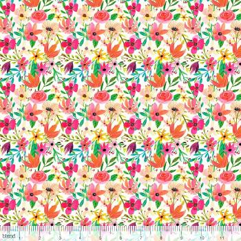 Blend Fabrics - Forest Friends - Floral Mixture Ivory