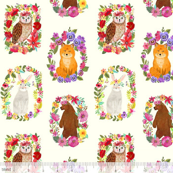 Blend Fabrics - Forest Friends - Wood Rings Ivory