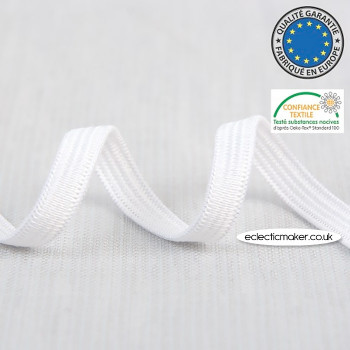 Braided Elastic for Masks in White - 5mm
