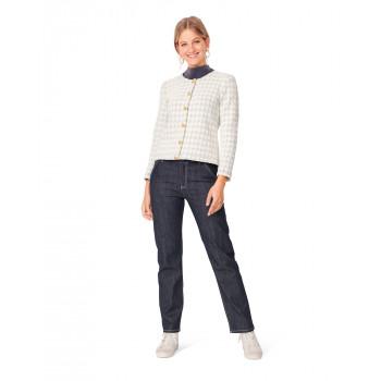 Burda Pattern 6053 Misses' Cardigan Jacket with Rounded Neckline