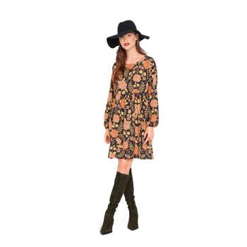 Burda Pattern 6055 Misses' Dress with Gathered Skirt