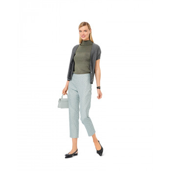 Burda Pattern 6072 Misses' Trousers / Pants in a Straight Fit with Side Zip