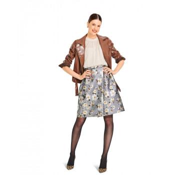 Burda Pattern 6084 Misses' Wrap Skirt with Inverted Pleats
