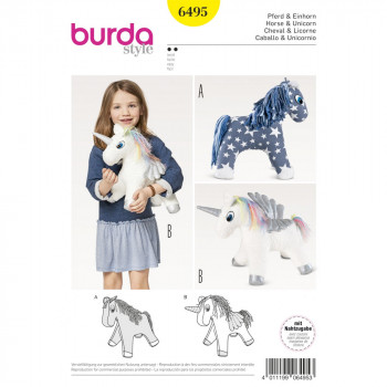 Burda Pattern 6495 - Stuffed Animal Horse