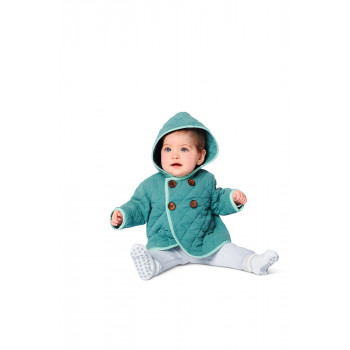 Burda Pattern 9270 Babies Jacket with Hood & Coat with Ties