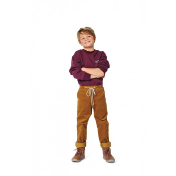 Burda Pattern 9271 Childrens Pull-On Trousers / Pants with Elastic and Patch Pockets
