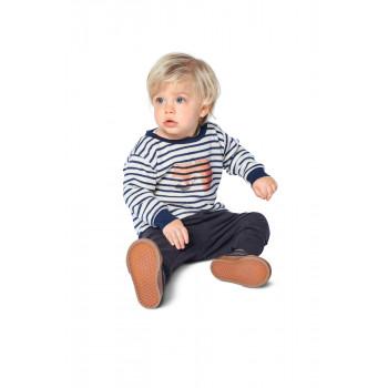 Burda Pattern 9273 Babies Top & Dress with Round Neckline & Rib Knit Cuffs