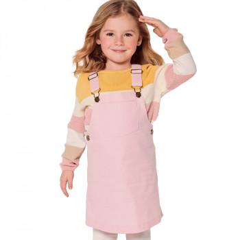 Burda Pattern 9287 Childrens Bibbed Skirts - Pinafore