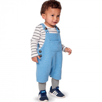 Burda Pattern 9295 Babies' Bibbed Trousers or Pants - Overalls with Straps