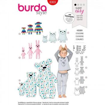 Burda Pattern 6303 Motif Pillows