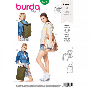 Burda Pattern B6400 - Backpack with Zipper Fastener