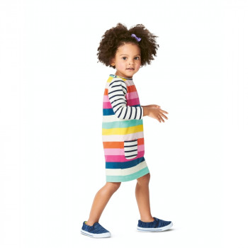 Burda Pattern 9296 Toddlers' Shirtdress with Pockets and Dress with Gathered Skirt
