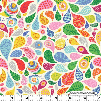Clothworks - Forever Magic - Spirals on Cream
