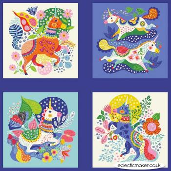 Clothworks Fabrics - Forever Magic - Unicorn Fabric Panel