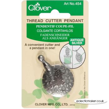 Clover Thread Cutter Pendant Antique Silver