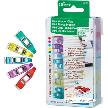 Clover Mini Wonder Clips Assortment - 50 Pack