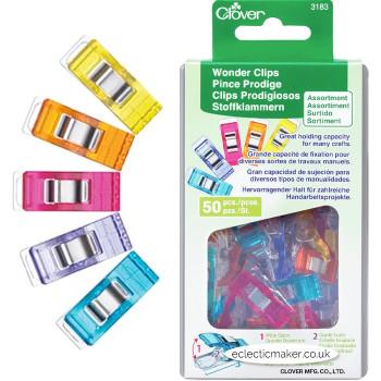 Clover Wonder Clips Assortment - 50 Pack