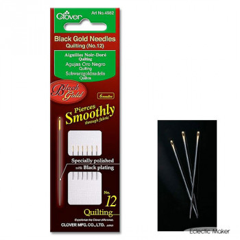 Clover Black Gold Quilting Needles No.12