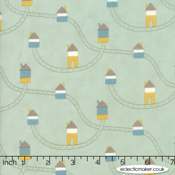 Moda Fabrics - Corner of 5th and Fun - Highways Byways in Blue Eyes