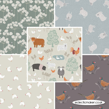 Country Life Reloved - Fabric Bundle in Cream - Lewis and Irene Fabrics
