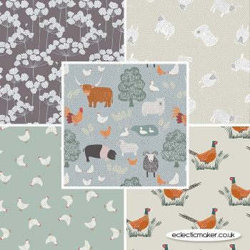 Country Life Reloved - Fabric Bundle in Grey - Lewis and Irene Fabrics