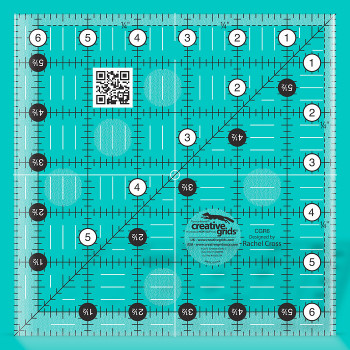 Creative Grids 6 1/2 inch Square Patchwork Ruler