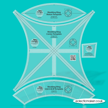 Creative Grids - Double Wedding Ring Patchwork Template Set