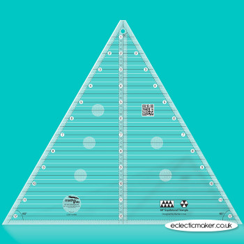 Creative Grids - 60 degree Triangle Patchwork Ruler - 12 1/2 inch
