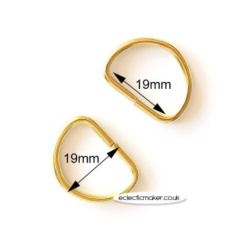 D Rings in Gold - 19mm