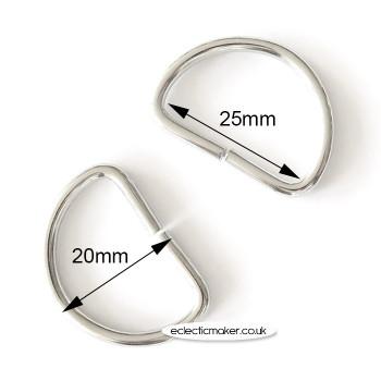 D Rings in Silver - 25mm