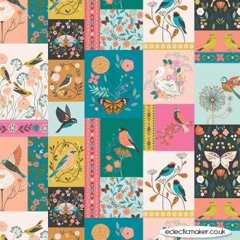 Dashwood Studio - Aviary Fabric Panel in Multi