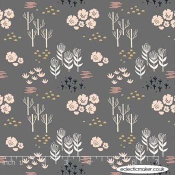 Dashwood Studio Fabrics - Dovestone Rayon - Meadow in Grey