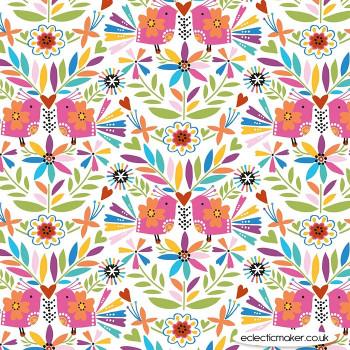 Dashwood Studio - Fiesta - Birds and Flowers in Multi
