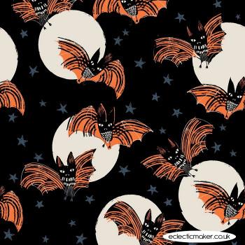 Dashwood Studio Fabrics - Full Moon - Bats on Black