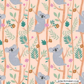 Dashwood Studio Fabrics - Our Planet - Koalas on Coral