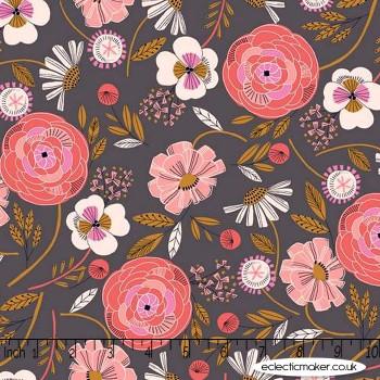 Dashwood Studio - Ravishing Rayons - Floral on Charcoal