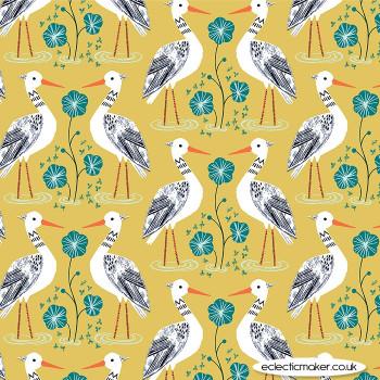 Dashwood Studio - Rivelin Valley - Egret on Yellow