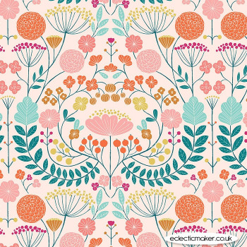 Dashwood Studio - Rivelin Valley - Flowers on Pink