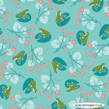 Dashwood Studio - Rivelin Valley - Frogs on Blue