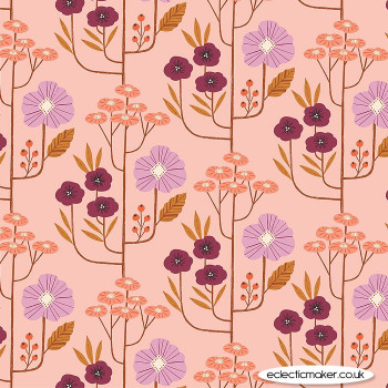 Dashwood Studio Fabrics - Wild - Flowers in Blush