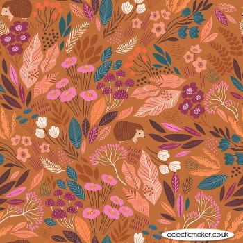 Dashwood Studio Fabrics - Wild - Hedgehog Meadow in Autumn