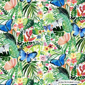 Dear Stella Fabrics - Paradise Found - Butterflies in Multi