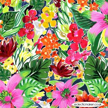 Dear Stella Fabrics - Paradise Found - Jungle Floral in Multi