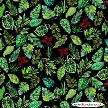 Dear Stella Fabrics - Paradise Found - Leaves in Multi