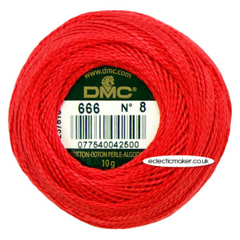 DMC Perle Cotton Thread Ball No.8 - 666
